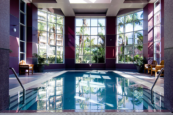 Real estate image of indoor pool