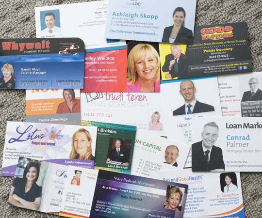 Have a head shot on your business card.